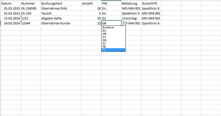 palettenverwaltung palettentyp auswählen
