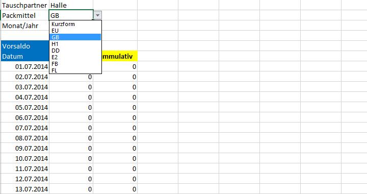 palettenverwaltung palettentyp auswerten