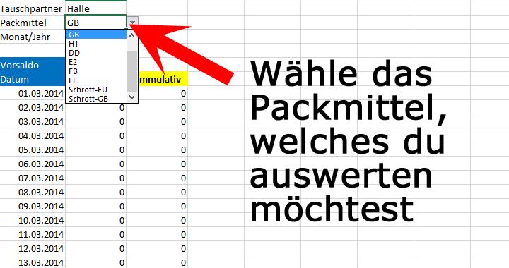 palettenverwaltung verschiedene packmitteltypen